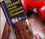 Cranberry and Orange luxury organic chocolate