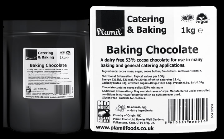 'Free From' Baking Chocolate Catering Drops - Click Image to Close
