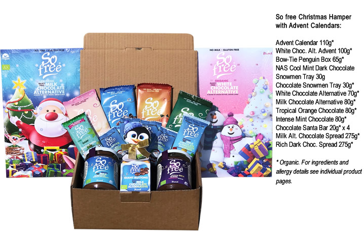 Christmas Hamper With Advents - Click Image to Close