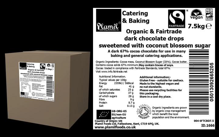 Organic FT Chocolate with Coconut Blossom Sugar Catering Large - Click Image to Close