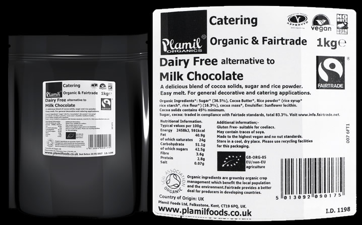 Fairtrade Alternative To Milk Chocolate Catering Drops - Click Image to Close