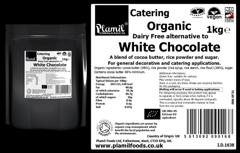 Organic Alternative To White Chocolate Catering Drops - Click Image to Close