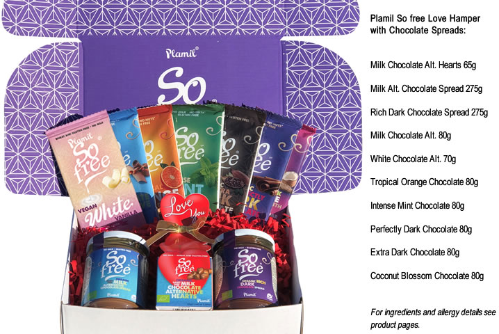 Plamil So free Love Hamper with Chocolate Spreads - Click Image to Close