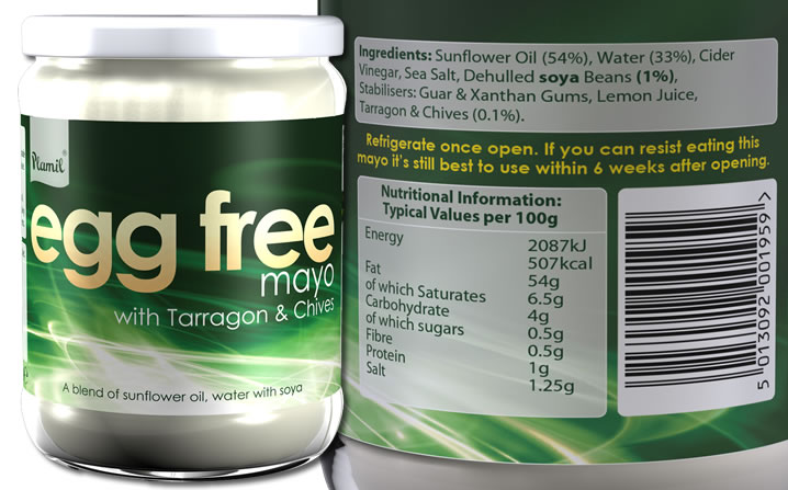Tarragon Egg Free Mayo - Click Image to Close
