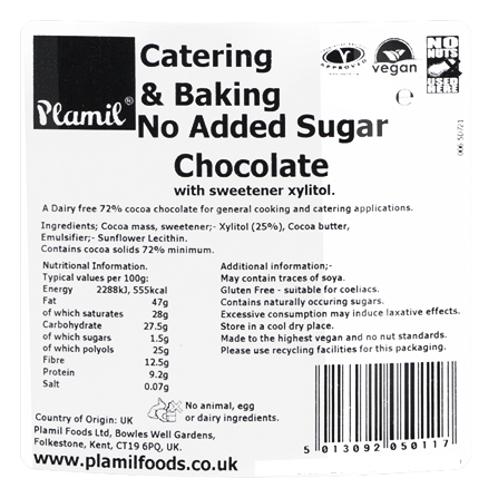 No Added Sugar Chocolate Catering Drops 72% Cocoa - Click Image to Close