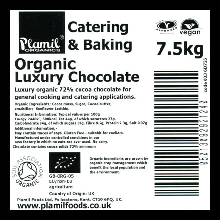Organic Luxury Chocolate Catering Pack Large - Click Image to Close
