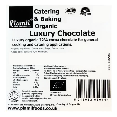 Organic Luxury Chocolate Catering Drops - Click Image to Close
