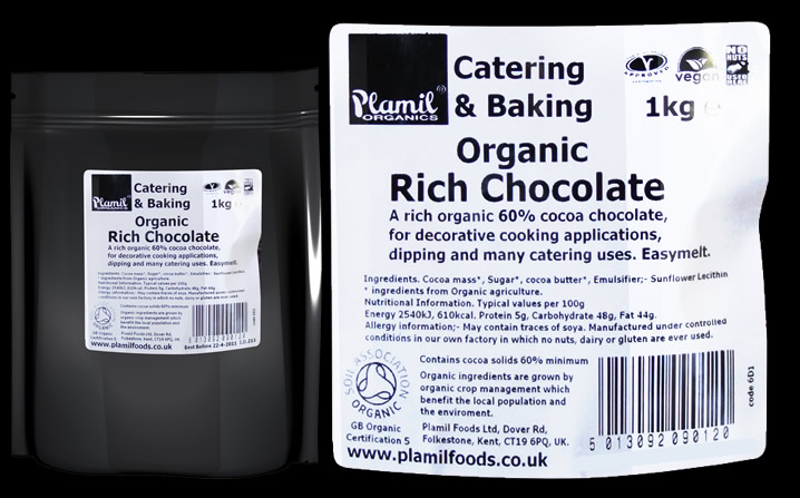 Organic Rich Chocolate Catering Drops - Click Image to Close