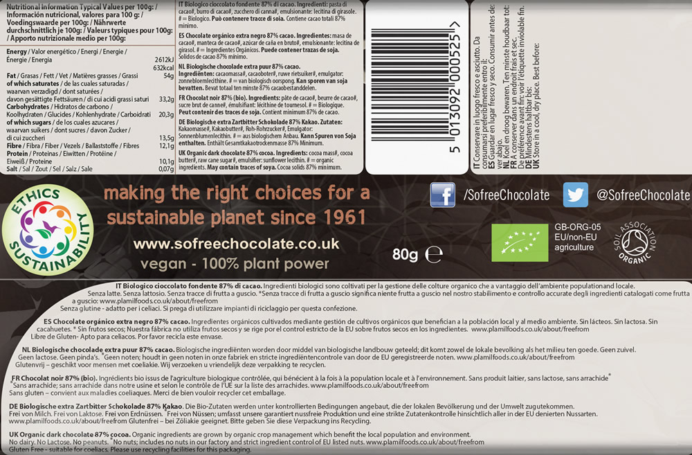 So free Extra Dark Organic Chocolate - Click Image to Close