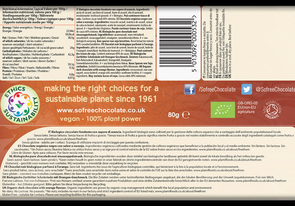 So free Tropical Orange Organic Chocolate - Click Image to Close