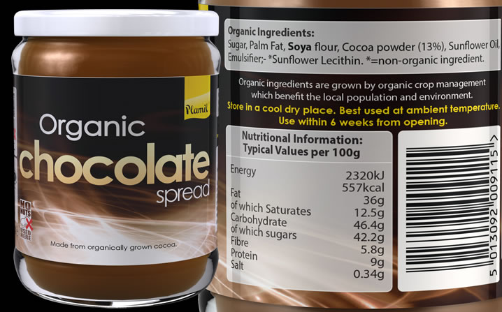 Organic Chocolate Spread 275g - Case of 6 BB 20/09/18 - Click Image to Close