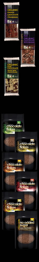 Plamil luxury chocolate bars and hot chocolate flakes