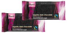 Organic Fairtrade Dark Chocolate Complimentary Bars