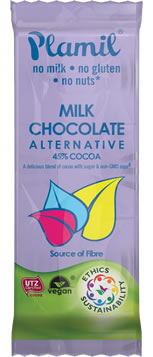 Dairy Free Alternative to Milk Chocolate Snack Bar