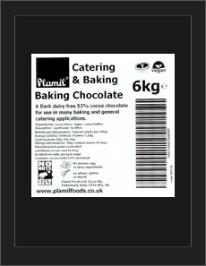 'Free From' Baking Chocolate Catering Pack Large