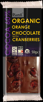 Organic Orange Chocolate with Cranberries