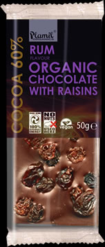 Organic Rum and Raisin Chocolate
