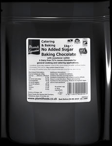 No Added Sugar Baking Chocolate Catering Drops 71% Cocoa