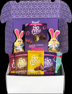 No Added Sugar Easter Hamper with Dark Egg
