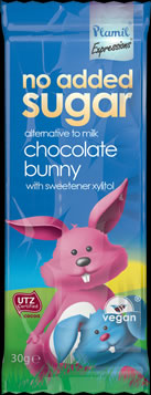 No Added Sugar Milky Chocolate Bunny Bar 30g - Case of 22