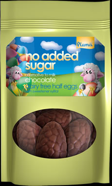 No Added Sugar Alternative to Milk Chocolate Half Eggs