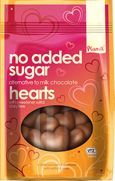 No Added Sugar Alternative to Milk Chocolate Hearts