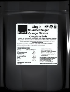 No Added Sugar Orange Flavour Chocolate Ends