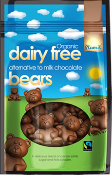 Organic Fairtrade Alternative to Milk Chocolate Bears