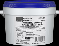 Organic Luxury Catering & Baking Chocolate Flakes