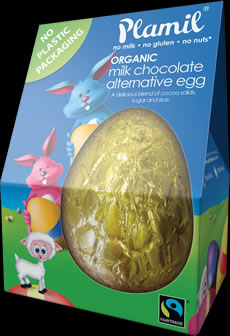 Organic Fairtrade Alternative to Milk Chocolate Easter Egg