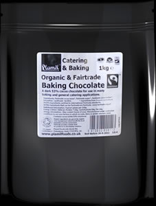 Organic Fairtrade Baking Chocolate Catering Drops
