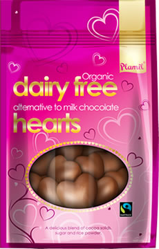 Organic Alternative to Milk Chocolate Hearts
