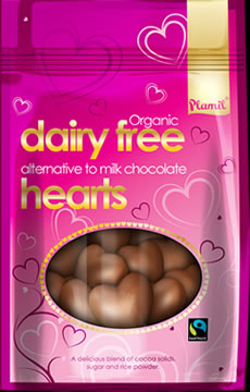 Organic Fairtrade Alternative to Milk Chocolate Hearts