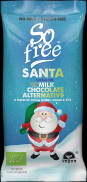 So free Organic Chocolate Santa Bar