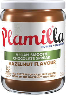 Plamilla Hazelnut Flavour Vegan Chocolate Spread