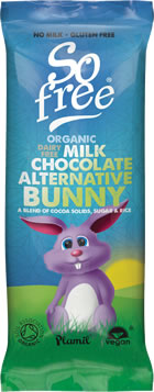 Plamil So Free Organic Alternative to Milk Chocolate Bunny Bar
