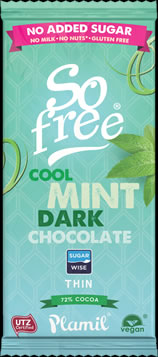 So free No Added Sugar Cool Mint Dark Chocolate