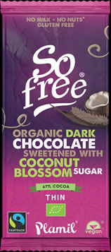 So free Dark Coconut Blossom Organic Fairtrade Chocolate