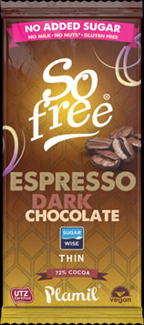 So free No Added Sugar Espresso Dark Chocolate