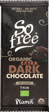 Plamil So free Organic Extra Dark Chocolate Thin Bar