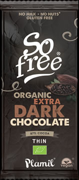 So free Extra Dark Organic Chocolate