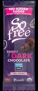 So free No Added Sugar Finest Dark Chocolate Snack Bar