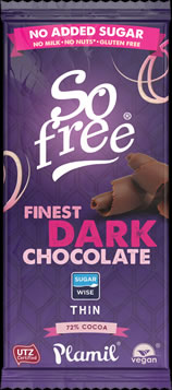So free No Added Sugar Finest Dark Chocolate