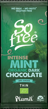 So free Intense Mint Organic Dark Chocolate