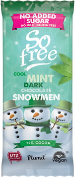 Plamil So free NAS Cool Mint Dark Chocolate Snowmen Tray