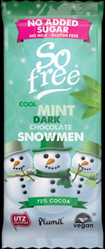 So free NAS Cool Mint Dark Chocolate Snowmen Tray