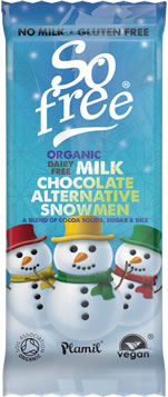 Plamil So free Organic Chocolate Snowmen Tray