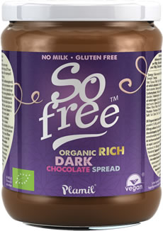 So free Organic Rich Dark Chocolate Spread