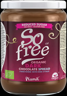 So free Reduced Sugar Dark Chocolate Spread