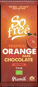 So free Tropical Orange Organic Chocolate